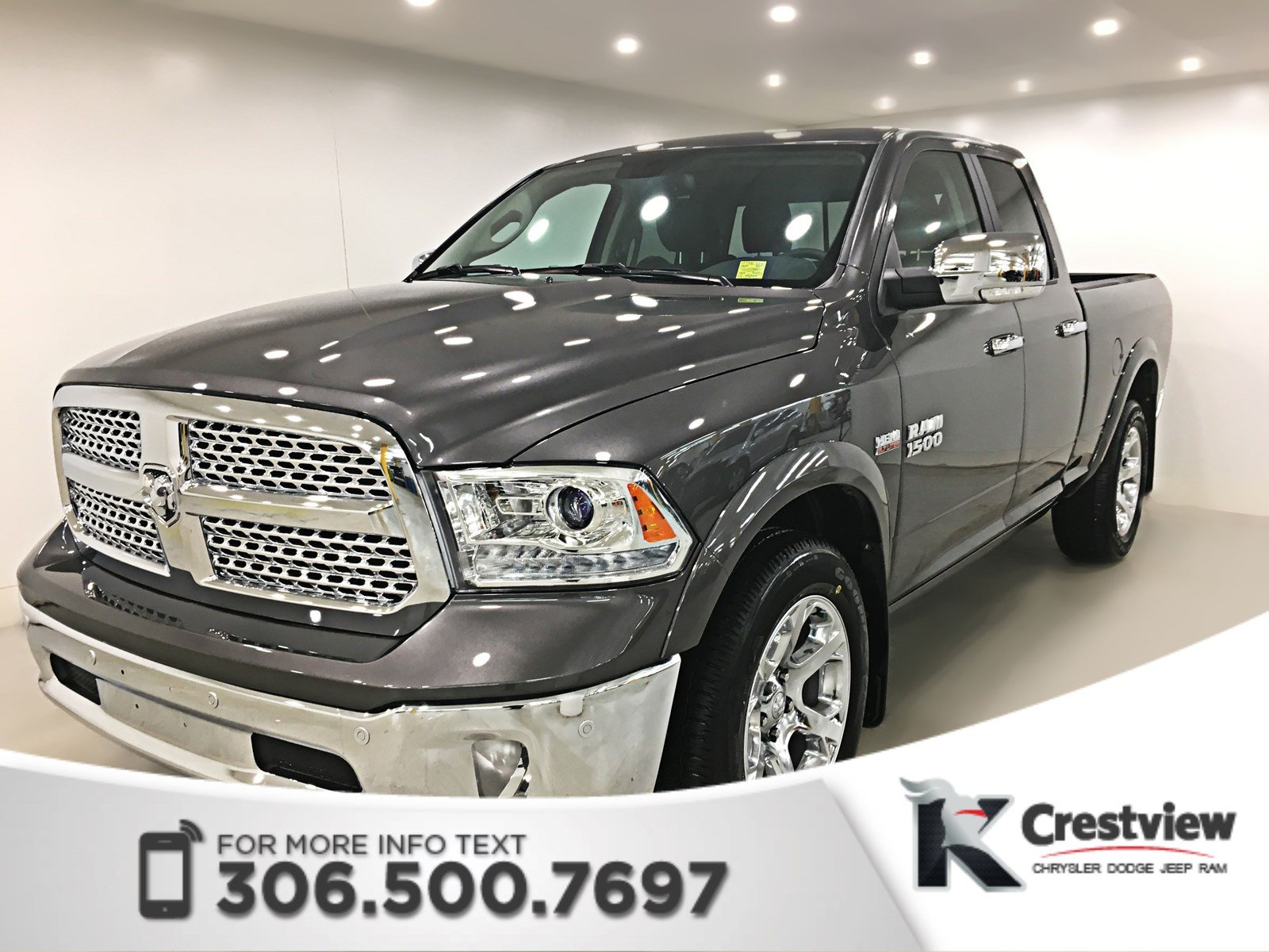 Jeep Certified Pre Owned 2 >> Certified Pre-Owned 2017 Ram 1500 Laramie Quad Cab | Ventilated Seats | Sunroof | Remote Start ...
