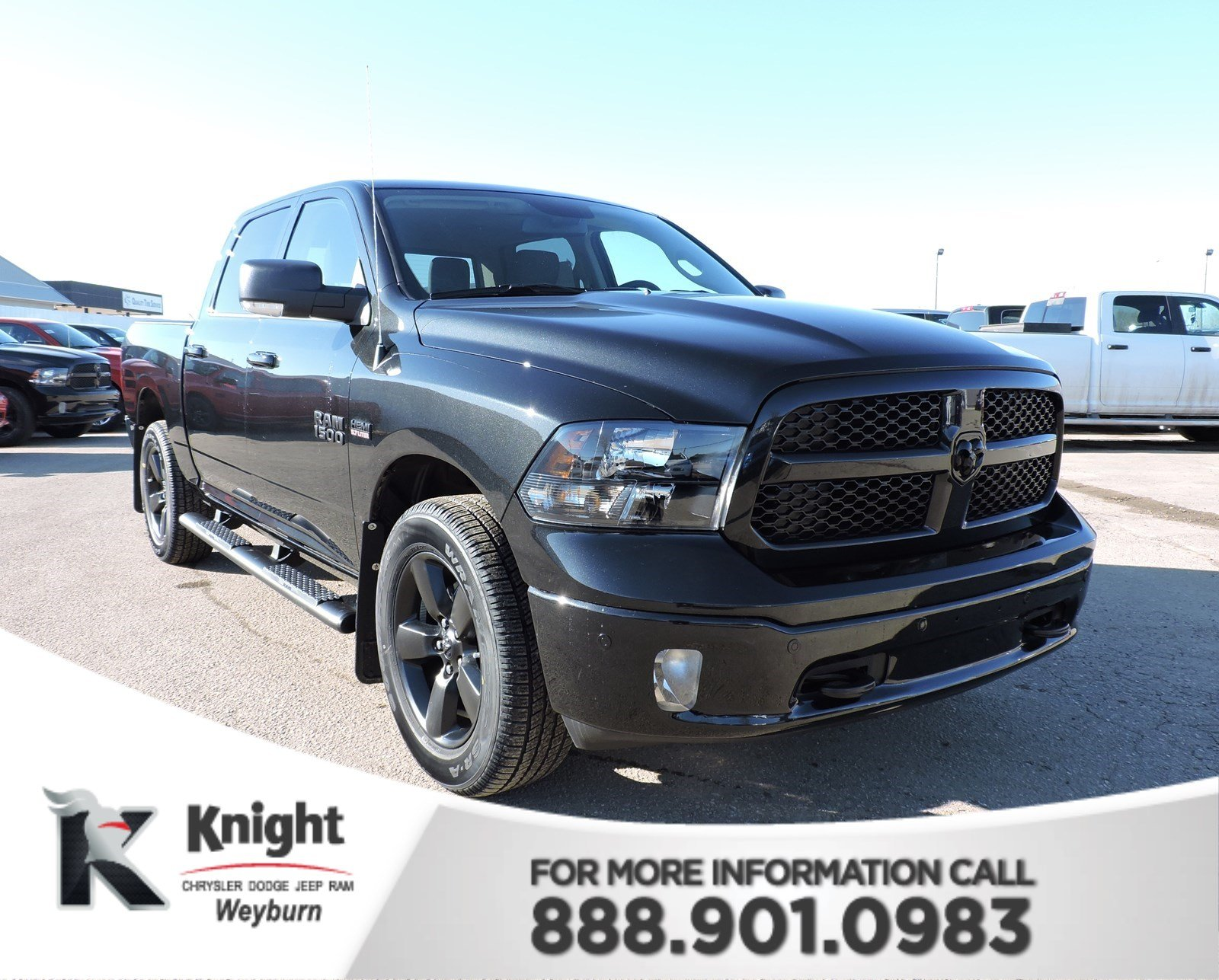 New 2018 Ram 1500 Big Horn Apple CarPlay Heated Seats Back Up Cam Front &