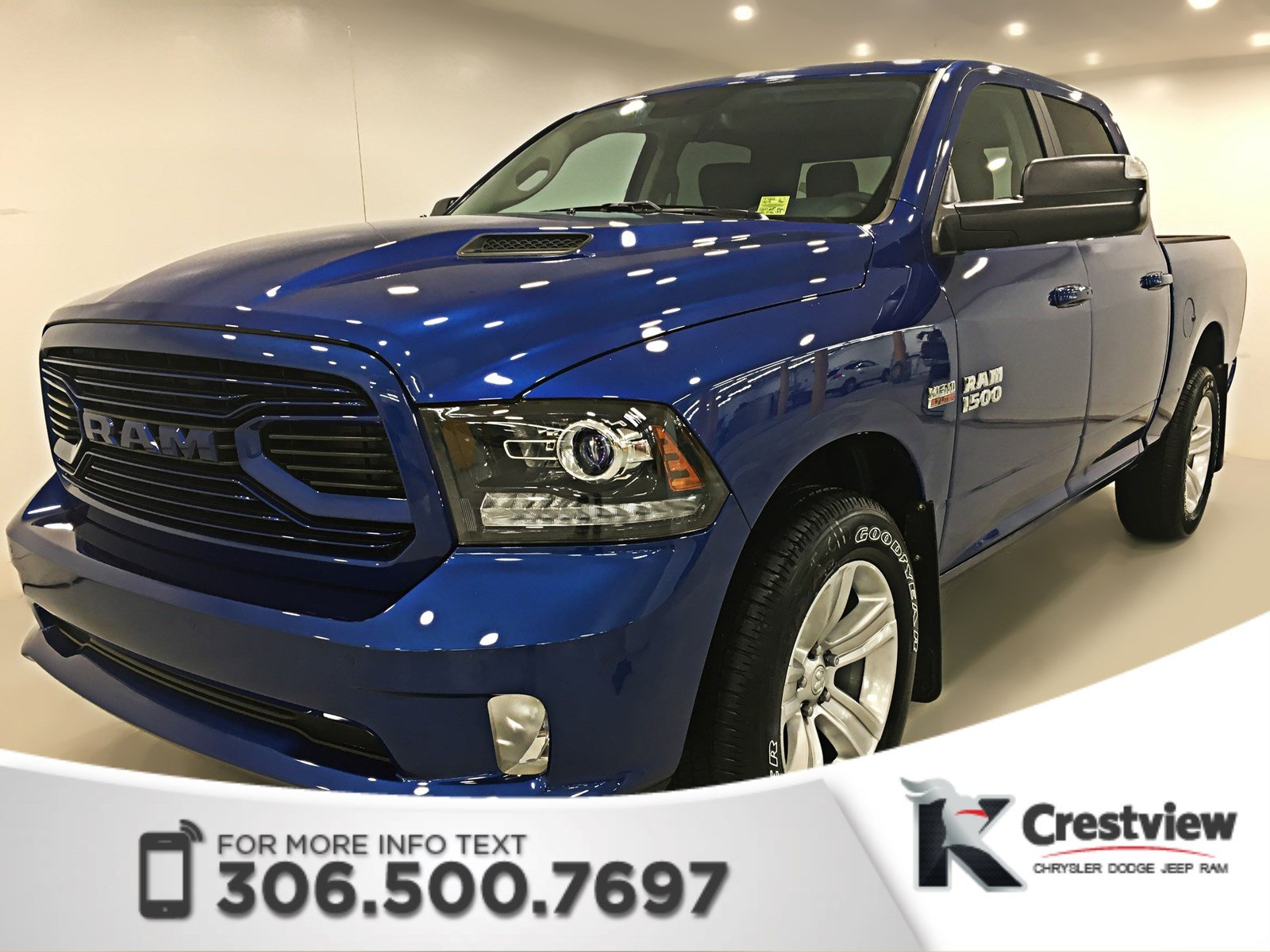 New 2018 Ram 1500 Sport Crew Cab Leather Sunroof Navigation