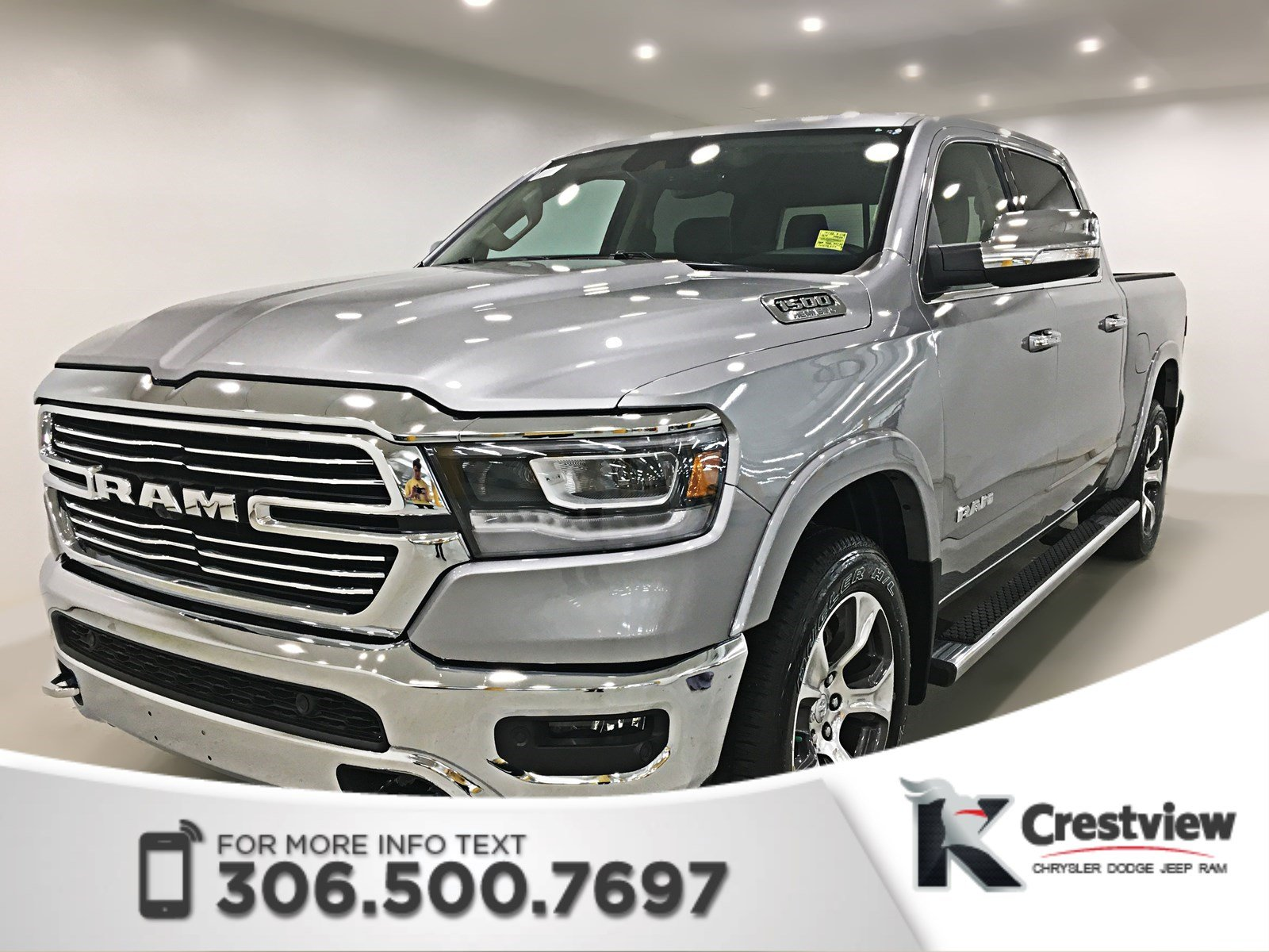 New 2019 Ram 1500 Laramie Crew Cab Panoramic Sunroof 12 Touchscreen Navigation