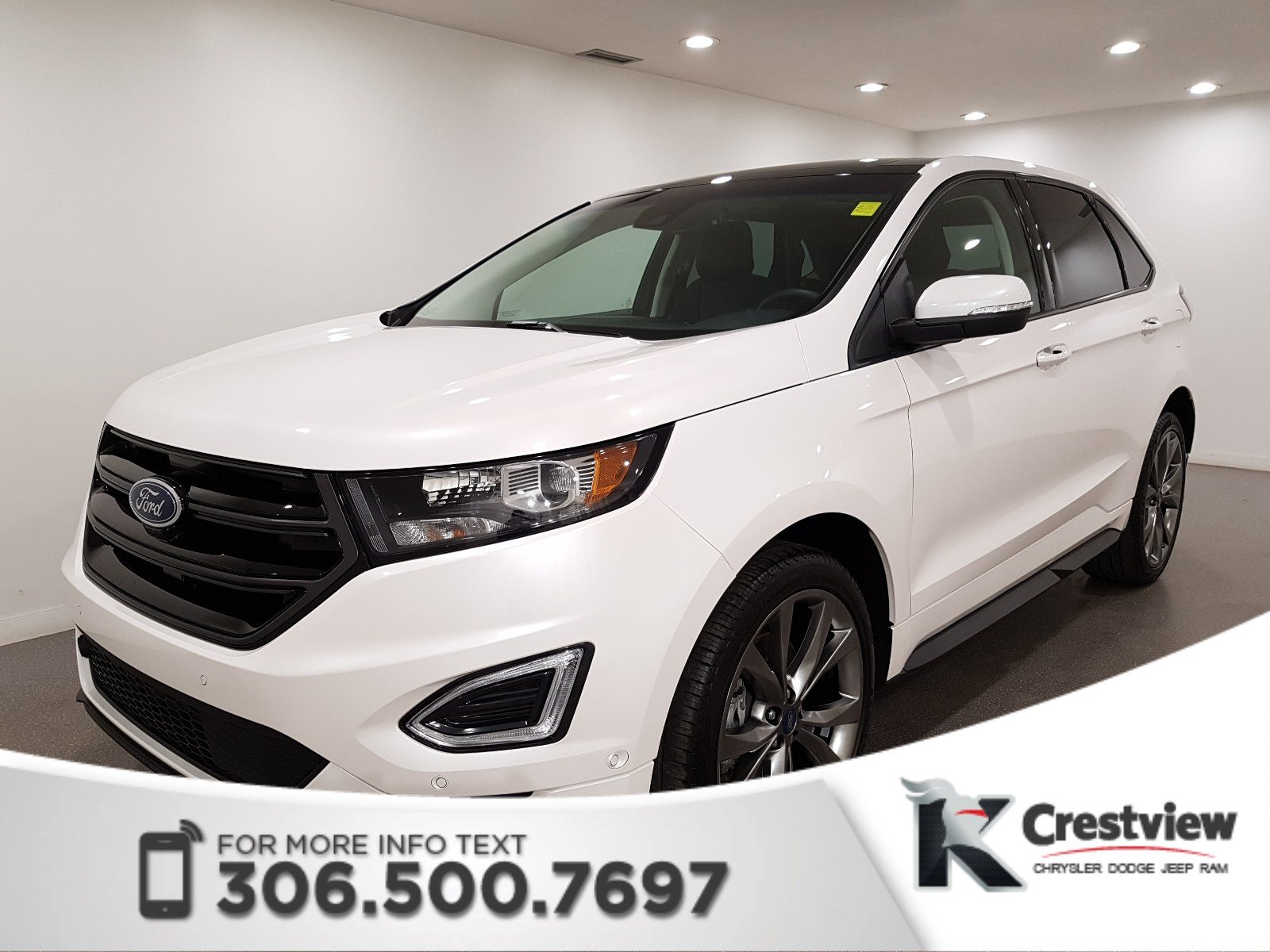 Certified Pre Owned  Ford Edge Sport Awd Leather Sunroof Navigation