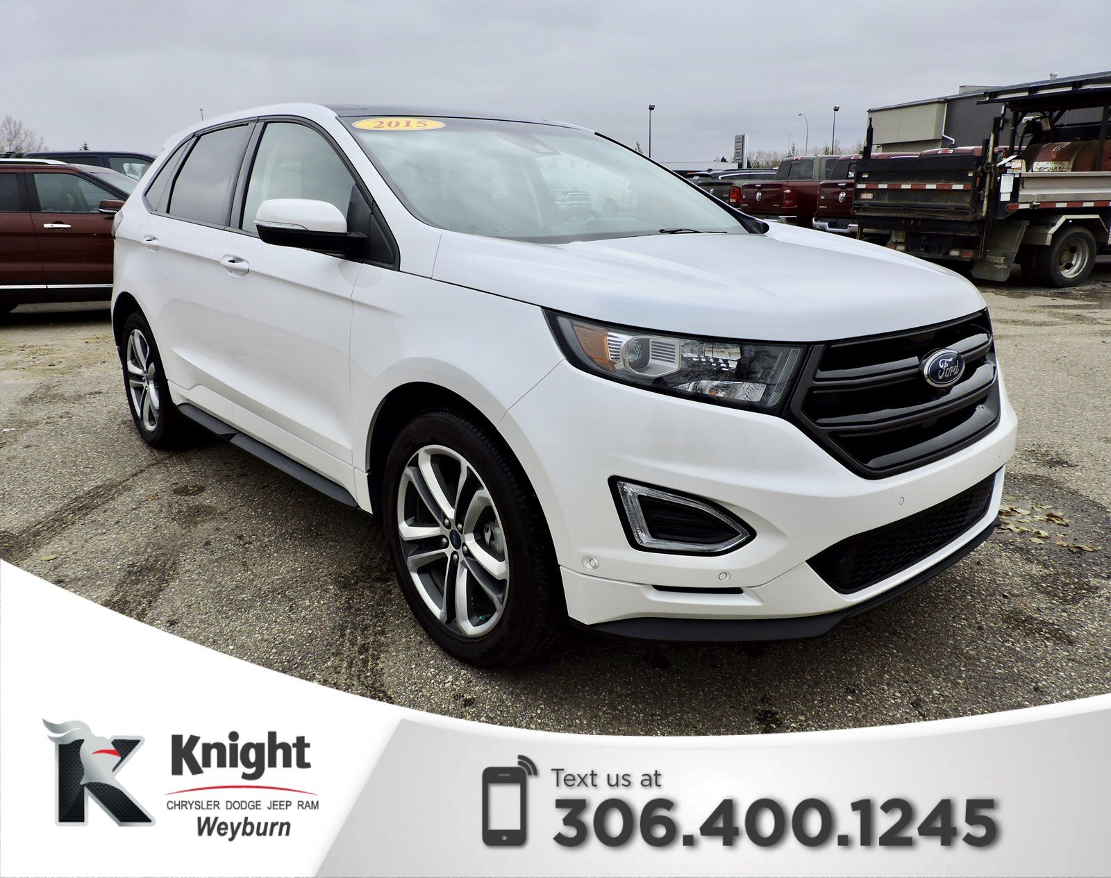 Pre Owned  Ford Edge Sport Heated Cooled Leather Remote Start Back Up