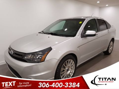 Pre-Owned 2011 Ford Focus SES | Auto | Heated Leather | Sunroof | Bluetooth | Rims | Local